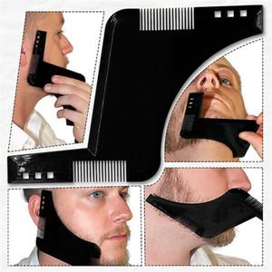 Peine de doble cara Barba Bro Shaping Tool Gentleman Beard Trim Template Corte de pelo moldeado barba peinado del pelo peine cepillo 100pcs