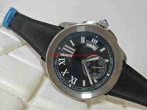 Fabrika Tedarikçisi yüksek kalite İzle 42mm Kalibreli W7100041 Deri Hareketi Mekanik Şeffaf Otomatik Erkek WatchesW7100041