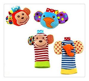 Toptan-Bebek Çıngırak Oyuncaklar Bilek Ayak Bulucu Küçük Yumuşak 0-12 Ay için Bebek Çocuk Oyuncak Çocuk Bebek Yenidoğan Peluş Çorap Brinquedos
