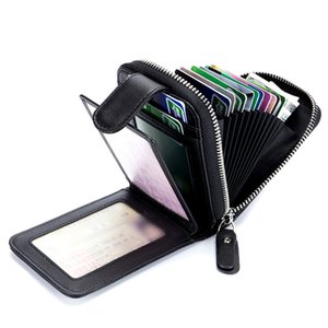 New Fashion Men Women Card Holder Wallets Business Knitting Credit Card Holders Genuine Leather Travel Wallets