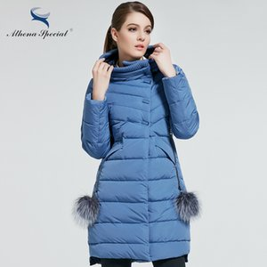 Wholesale- Athena Special 2017 New Women Winter Coat Warm Winter Thick Hooded Parka Womens Bio Down Jackets Female Overcoat High Quality