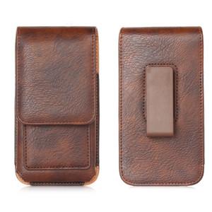 PU Leder Litchi Muster 360 Flip Handytasche Gürteltasche Retro Gürtelclip Tasche Leder Gürteltasche Für Samsung / HTC / LG / Sony / Lenovo