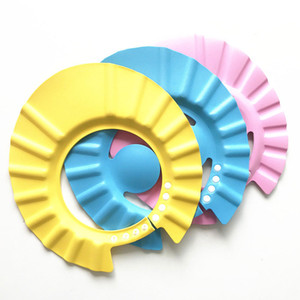 Çocuklar Yıkama Kap Yumuşak Bebek Çocuk Şampuanı Banyo Duş Cap Visor ile Ayarlanabilir Şapka Yıkama Saç Kalkanı Kulak Su Geçirmez Şapka
