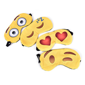 500 STÜCKE Schöne emoji Nickerchen Augenpflege Schatten Augenbinde Schlafmaske Augen Abdeckung Schlaf Cartoon 3D Druck Schlafaugenmaske