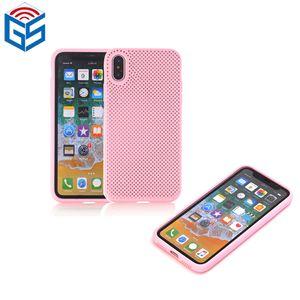 Pour Iphone X 8 8 Plus 7 Plus 6 5 Nouvelles idées de produits 2018 Dissipation de la chaleur Conception en maille souple Silicone Mobile Phone Case