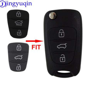 Jingyuqin Nuevo Reemplazo Pad de Goma 3 Botones Flip Car Remote Shell Dominante para Hyundai I30 IX35 Kia K2 K5 Key cover Case