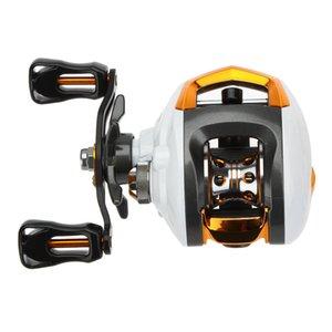 12 + 1 Rodamiento de bolas Baitcasting Carrete de pesca Carrete de pesca de alta velocidad con sistema de freno magnético Señuelo de pesca Carrete