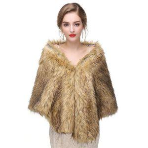 CMS01 Bolero Jacket Bridal faux 모피 랩 Faux fur stole shrugs Faux 모피 케이프와 shawls Wedding Bolero Jacket
