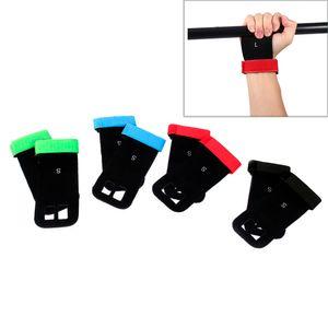 1 Çift Ağırlık Kaldırma Eldiven Yapay Deri Jimnastik Kavrama Eldiven El Kavrama Pad Guard Palm Koruyucu Gym Egzersiz Eldiven
