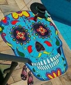 Fiesta de la piscina bañando Pizza Bohemia Fruta Elefante indio Beach mat chal de mujer Bikini Bundle traje de baño tapa toalla