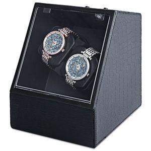Vente en gros-automatique montre automatique Silent Watch Winder forme irrégulière couvercle transparent boîte de montre-bracelet avec prise américaine