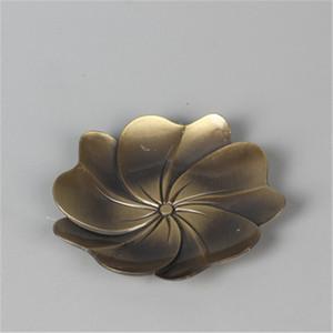 Kung Fu Té Bronce Plata Aleación de Zinc Metal Platillo Coaster Chino Tang y Song Style Tea Coaster Home Supplies