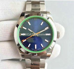 High Classic Blitz MILGAUSSS Luxusuhr 116400GV Blau 40MM Standard-Dial-Qualitäts-Automatik-Uhrwerk Silber Original-Schließe watche
