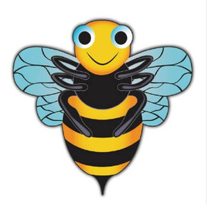 Cartoon Bee Kite Fácil de volar al aire libre juguete deportivo para niños cometas lindas 2017 recién llegado de alta calidad que vuelan Big Kites