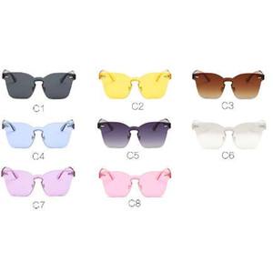 Hot Fashion Brand gafas de sol del diseñador de las mujeres Summer Rimless Square Shades Sun glasses Eyewear sunshines Luxury Sunglasses woman