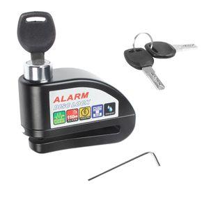 Serratura antifurto dell'allarme impermeabile della serratura del freno a disco con il cacciavite ed i tasti per lo strumento di protezione di furto di sicurezza della bicicletta del motociclo