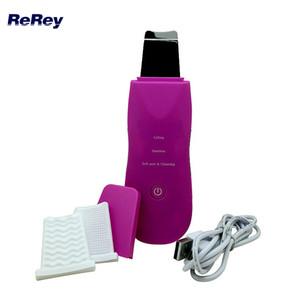 New Portable Ultrasonic Scrubber Facial Exfoliator Peeling Machine Ultrason Galvanic Therapy Facial Massager Soins Dispositif