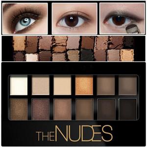 12color Pigment Bronzer Glitter Matte Eye Shadow Brand Cosmetics Eyes Makeup Naked Palette Nude Eyeshadow Kit