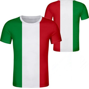 İtalya t shirt diy ücretsiz ısmarlama isim numarası t shirt ulus bayrak italya ülke italia kolej baskı logosu metin giysi