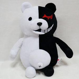 25 cm Cute Cartoon Animal Dolls Dangan Ronpa Monokuma Doll Plush Toys Blocks White Bear Birthday Gift Toys for Children