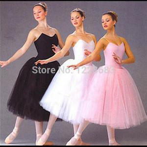 Frauen Erwachsene Kinder Mädchen Rosa Schwarz Weiß Klassisches Ballett Tutu Rock Kleid Ballett Kostüm