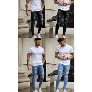 Cheap White Grinding Slim Slim Fitted Jeans Wholesale Europe Men's Skinny Jeans