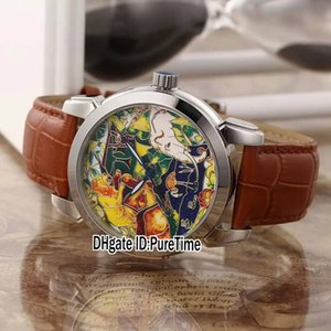 New Classico Emaille 729-61 Steel Case Elefant Lion Monkey Tier Totem Automatische Herrenuhr Brown Leder Sportuhren Top Qualität UN80a1