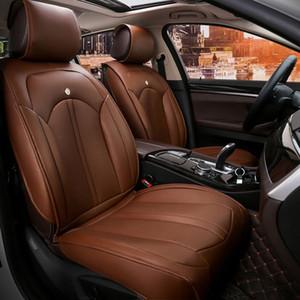 Coprisedili universali per auto per auto per la berlina in pelle PU duratura integrale in pelle PU giurabile Easy da pulire a cinque posti 5 pezzi cover per SUV