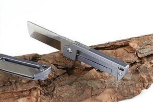 Foguete High End CNC TC4 Titanium Folding faca D2 lâmina de aço Tactical facas Outdoor Faca de bolso presente Xmas ferramenta EDC