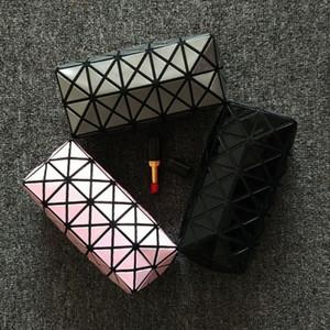 Novas Mulheres Da Moda Saco de Cosmética Casos Geométrica Dobrável Compõem Saco de Qualidade Qualidade Organizador de PVC Caso Sacos de Beleza