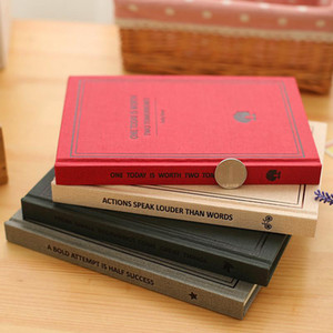 2017 New Vintage A5 / B5 Relié Cahier Périodique Journal 16K 32K Papelaria Impression Planificateur École Caderno Sketchbook