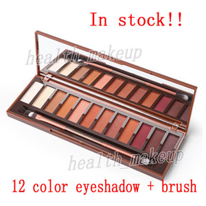 UR Brands Makeup Heat Palette 12 Colors Eyeshadow Palette High Quality Eye shadow with Making up Pallete Brushes Cosmetics DHL Free Shipping