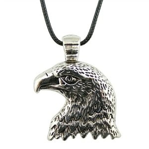 WYSIWYG 5 Pieces Leather Chain Necklaces Pendants Choker Collar Hand Made Necklace Men Eagle 33x29mm N6-B10738