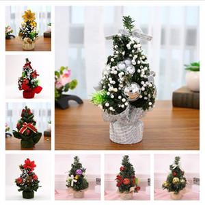 DIY Weihnachtsbaum Mini Pine Tree Weihnachten Dekor Weihnachtsdekoration Kinder Geschenke Bowknot runden Ball Dekor 20cm