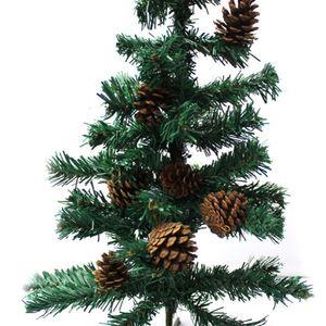 Venda quente 4.5 cm 9 pçs / set Natal Home Decor Pine Cones XMas Árvore Pendurado Ornamento Decoração de Natal Suprimentos