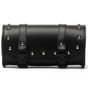 Universal Motorcycle PU Leather Roll Barrel Tool Bag Luggage Saddlebag For  Most Motorcycle