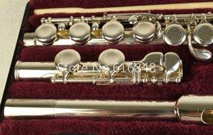 Júpiter JFL-5011E C Tune flauta 16 teclas agujeros cerrado Flautas Flauta plateado con el caso y cabezas pequeñas curvas envío
