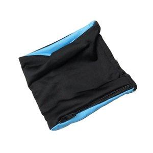 Reflektierende Reißverschlusstasche Handgelenkstütze Wrap Straps Lycra Fitness Radfahren Sport Armband Volleyball Badminton Schweißband 1 Stücke