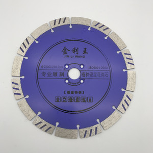 Diamond Saw Blade 9 inch (230 mm) for Granite Special Teeth Dry Cutting Disc Thickness 3.0 mm inner Hole 22.23 mm
