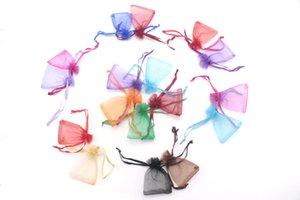 Sacchetti all'ingrosso di organza di colori 200pcs misti 5x7cm, sacchetti di imballaggio di gioielli sacchetti regalo di nozze sacchetto di regalo bello per Natale