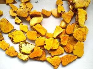 "Oranger Yellow Turquoise Stone 20-50mm Slab Freeform rojo blanco rojo Azul blanco Turquesa beads Turquoise Jewelry full strand 16 """