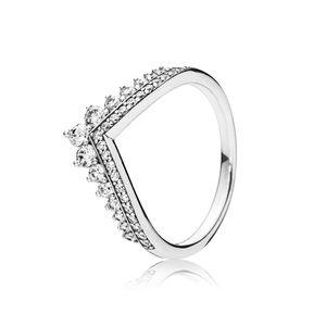 COSEN PANDORAS 2018 Autunno New Original 925 Sterling Silver Princess Anello desiderio, Clear CZ gioielli per le donne regalo 197736CZ