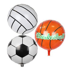 Grosses soldes !!! 10pcs / set 18 pouces décoration de fête de sports de ballon de football de style de volley-ball de basket-ball de basket-ball