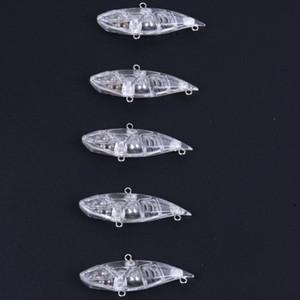 Vuoto VIB 65mm 9g Sinking Vibrazione Fishing Lure non verniciata Plastica dura VIBE Inverno Ice Jigging Pike Bait Tackle Isca Peche