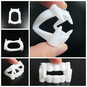 New White Fake Vampire Dentes Ambientalmente Plástico Dental Dente de Dentadura Do Partido Do Dia Das Bruxas Cosplay Fontes Do Partido de Halloween