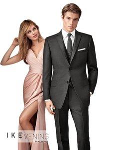 wedding tuxedo dark gray for groom wear formal suits slim fit custom made suit dinner 2020