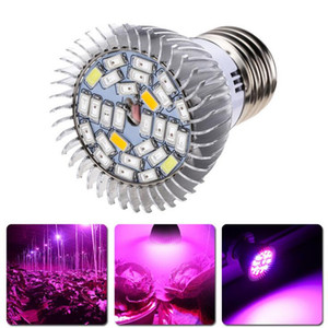 Nouveau 28W E27 GU10 E14 Led élèvent la lumière de la lampe 28 LED SMD 5730 LED élèvent la lumière usine hydroponique Lampe à spectre complet AC 85-265V