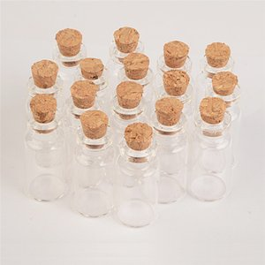 2ml mini bottiglie di vetro vuote con sughero 16 * 35 * 7mm Piccolo Wishing bottiglia di vetro fiale Vasi 100pcs / lot