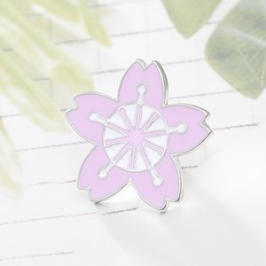 Moda Sakura Broche de Denim chaquetas de cuello Sombrero placas de metal pernos de las broches de ropa bolsa de accesorios