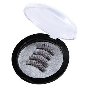 Meilleur Qualité Double Magnetic Lashes 3D Vison Réutilisable Fasle Cils Sans Colle 4pcs = 1pairs DHL Livraison Gratuite